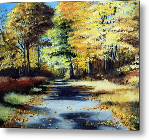 Landscape Metal Print featuring the painting Autumn Colors by Paul Walsh