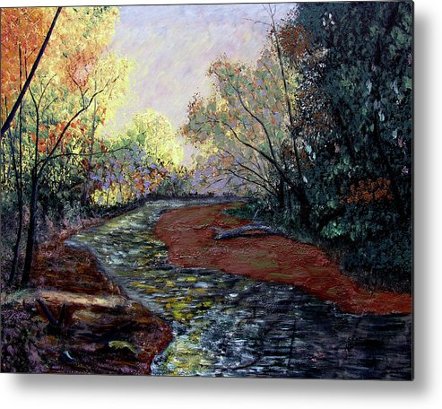 Fall Metal Print featuring the painting Autumn Road by Stan Hamilton