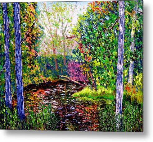 Plein Air Metal Print featuring the painting Avon Paint Out by Stan Hamilton