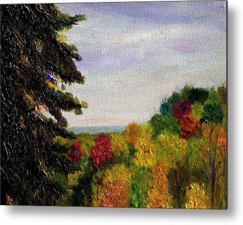 Plein Air Metal Print featuring the painting bcsp Outlook by Stan Hamilton