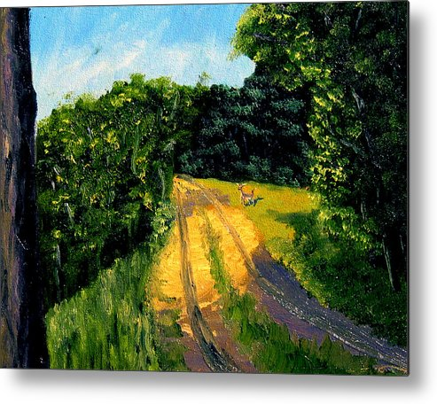 Plein Air Metal Print featuring the painting Bcsp6 by Stan Hamilton