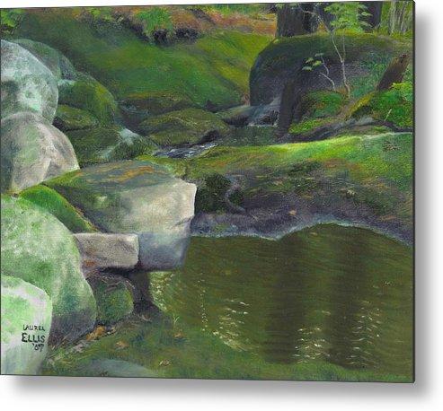 Landscape Metal Print featuring the painting Beside Cool Waters by Laurel Ellis