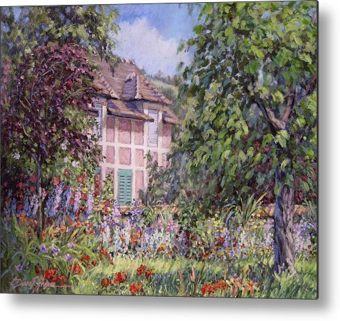 Monets Garden Metal Print featuring the painting Beyond The Garden by L Diane Johnson