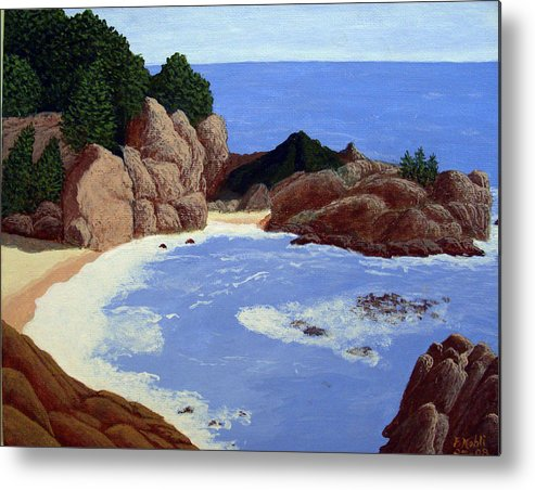 Landscape Art Metal Print featuring the painting Big Sur by Frederic Kohli