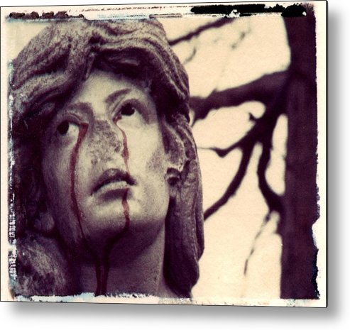 Polaroid Metal Print featuring the photograph Blood Is The New Black by Jane Linders