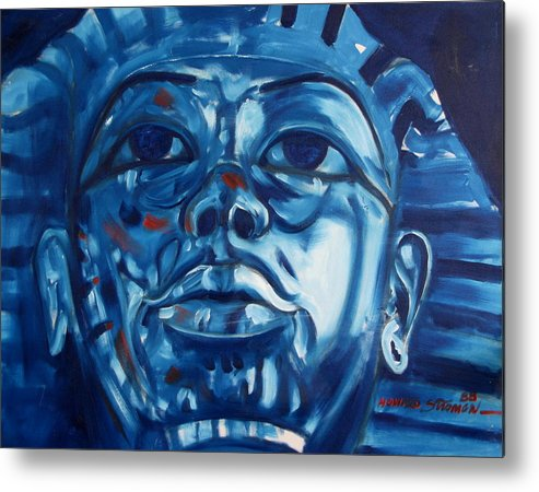 King Tut Metal Print featuring the painting Blue Boy by Howard Stroman