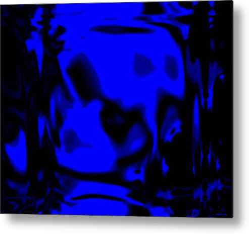 Aupre.com Hypermorphic Arthouse Unique Original Digital Art Made By The Hari Rama Metal Print featuring the painting Blue Fashion by The Hari Rama