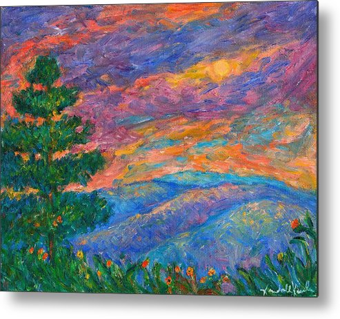 Mountains Metal Print featuring the painting Blue Ridge Jewels by Kendall Kessler
