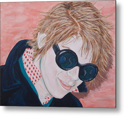 Portrait Metal Print featuring the painting Brad by Kevin Callahan