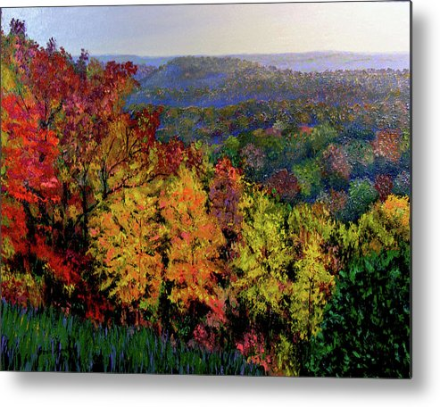 Landscape Metal Print featuring the painting Brown County Autumn by Stan Hamilton