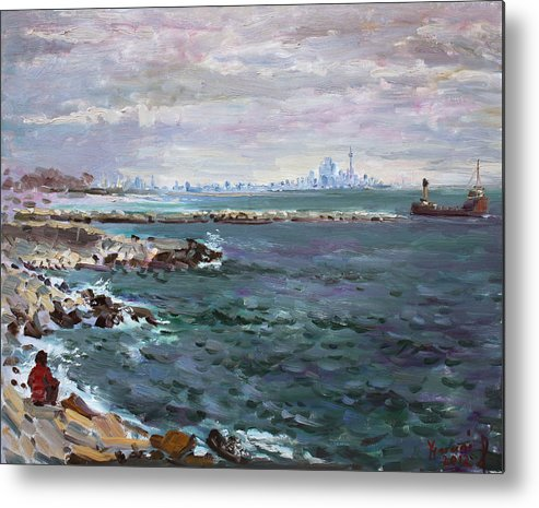 Mississauga Metal Print featuring the painting By Lakeshore Mississauga by Ylli Haruni
