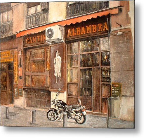 Madrid Metal Print featuring the painting Cantina Alhambra by Tomas Castano