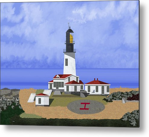 Seascape Metal Print featuring the painting Cape Flattery Lighthouse on Tatoosh Island by Anne Norskog