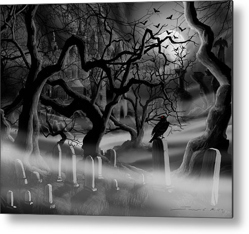 Castle Metal Print featuring the painting Castle Graveyard I by James Christopher Hill