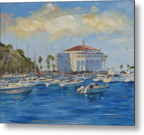 California Metal Print featuring the painting Catallina Casino by Jay Johnson