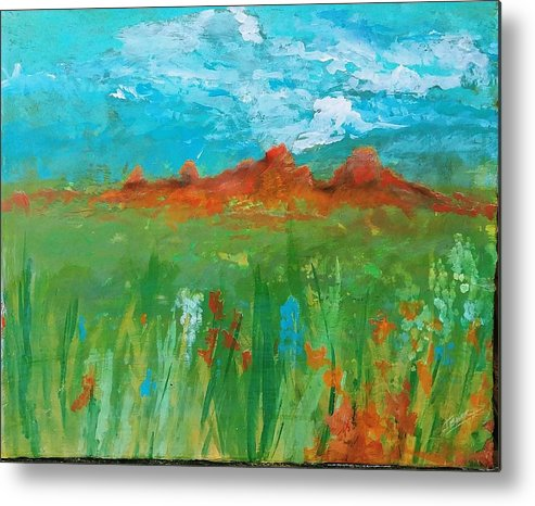 Colorado Metal Print featuring the painting Colorado Spring by J Bauer