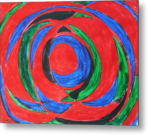 Abstract Metal Print featuring the painting Concentric by Biagio Civale
