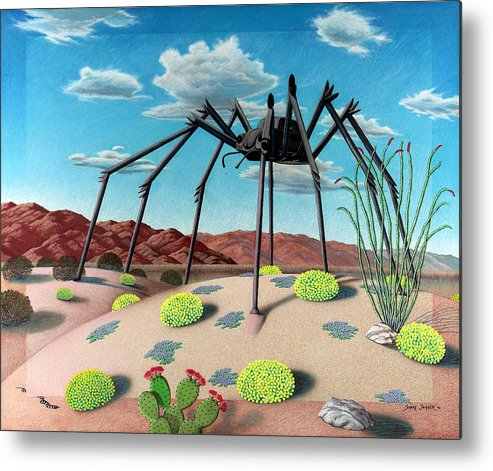 Desert Metal Print featuring the painting Desert Bug by Snake Jagger