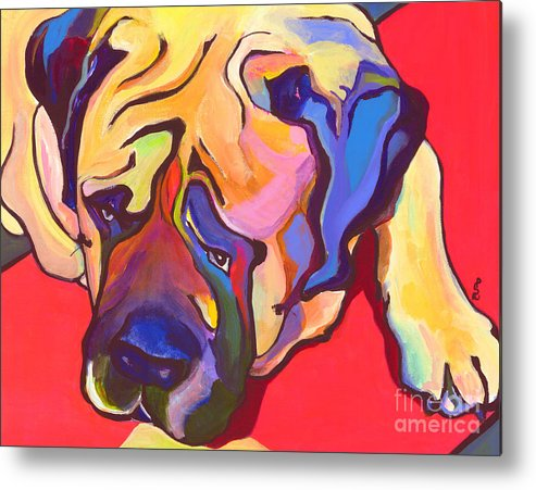 Mastiff Metal Print featuring the painting Diesel  by Pat Saunders-White