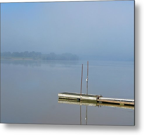 River Metal Print featuring the photograph Doug's Dock by Martie DAndrea