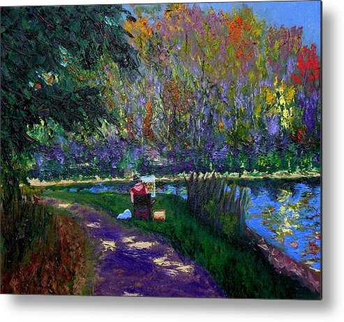 Original Oil On Canvas Metal Print featuring the painting Ecp 10-3 by Stan Hamilton