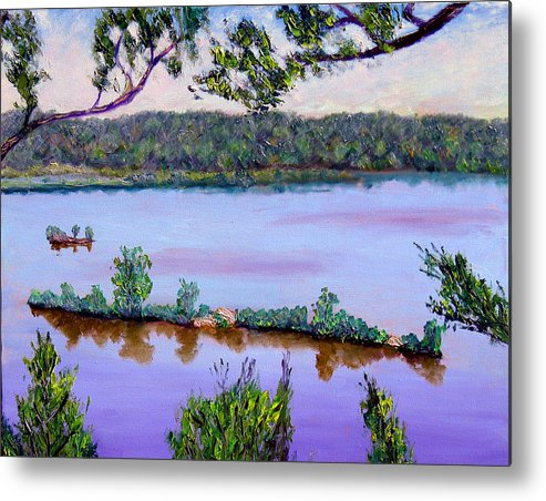 Original Oil On Canvas Metal Print featuring the painting Ecp 6-1 by Stan Hamilton