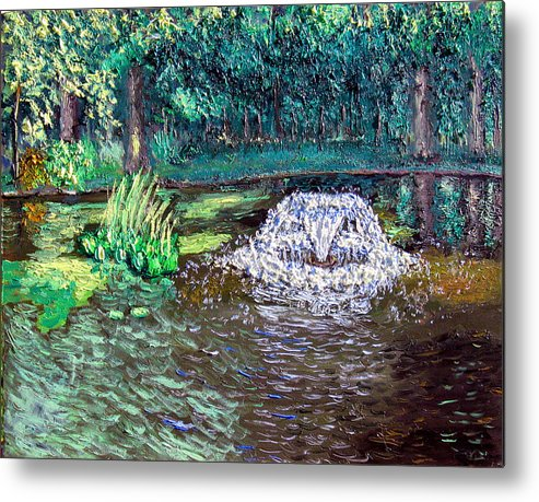 Original Oil On Canvas Metal Print featuring the painting Ecp 7-12 by Stan Hamilton