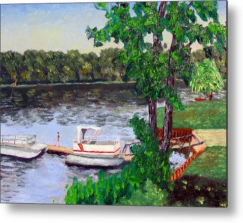 Original Oil On Canvas Metal Print featuring the painting Ecsp 8-24 by Stan Hamilton