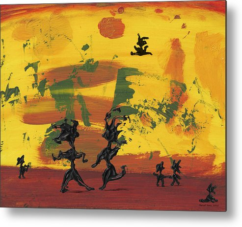 Dance Metal Print featuring the painting Enjoy Dancing by Manuello Sueess