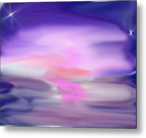 Sea Metal Print featuring the digital art Evening kiss by Dr Loifer Vladimir