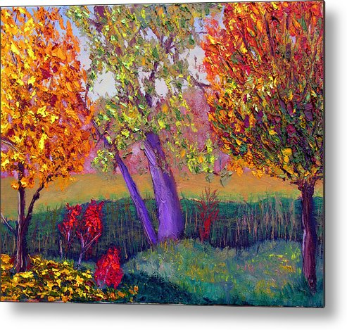 Fall Metal Print featuring the painting Fall Colors by Stan Hamilton