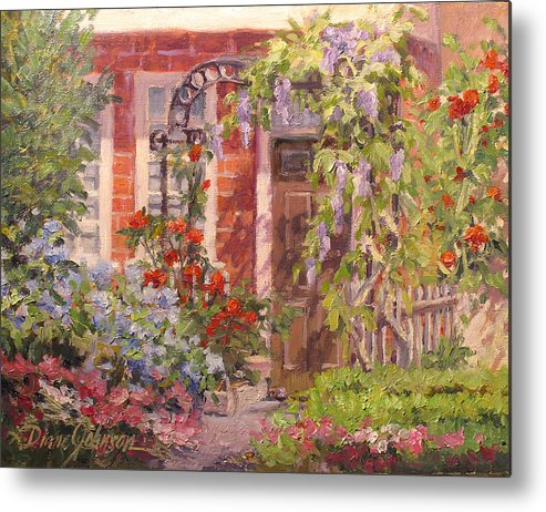 Impressionism Metal Print featuring the painting Flavor of England by L Diane Johnson