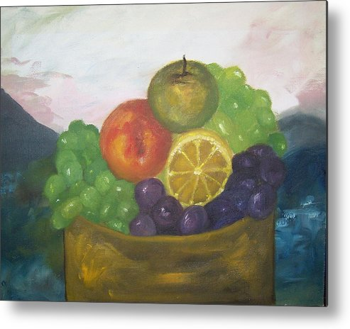 Oil Painting Metal Print featuring the painting Fruit of the Land by Pamela Wilson