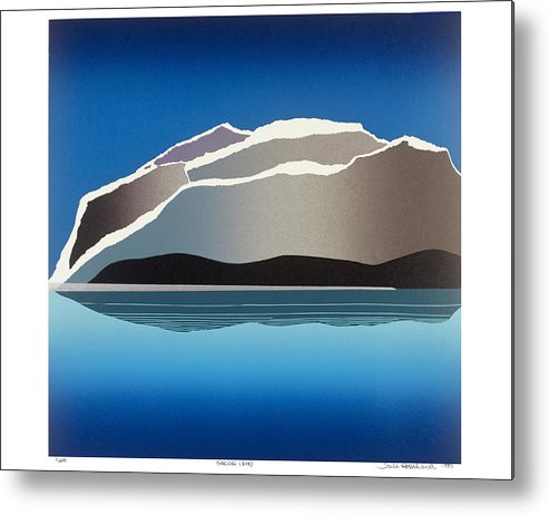 Landscape Metal Print featuring the mixed media Glaciers by Jarle Rosseland