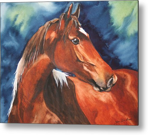 Horse Metal Print featuring the painting Golden Boy by Jean Blackmer
