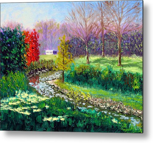 Original Oil On Canvas Metal Print featuring the painting Gp 10-18 by Stan Hamilton