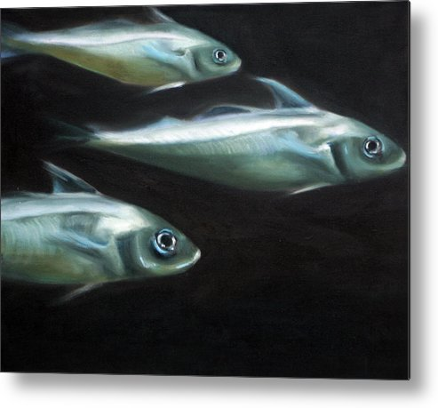Haddock Metal Print featuring the painting Haddock by Fiona Jack