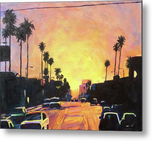 Sunrise Metal Print featuring the painting Highlights by Bonnie Lambert