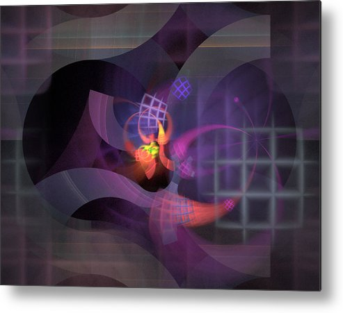 Graceful Metal Print featuring the digital art In The Year Of The Tiger - Fractal Art by Nirvana Blues