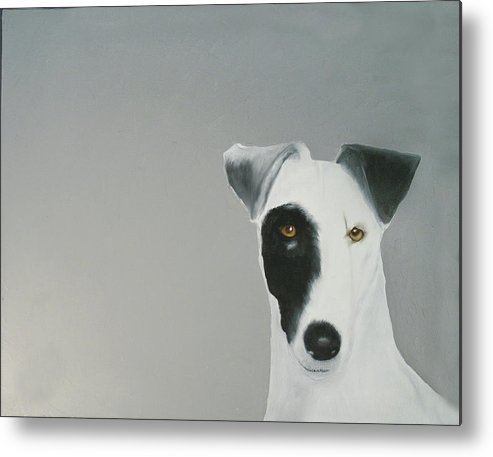 Metal Print featuring the painting Jack Russell by Dick Larsen