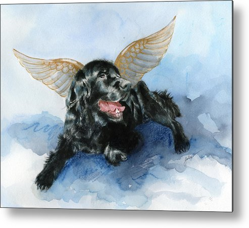 Dog Metal Print featuring the painting Jake Angel by Galen Hazelhofer