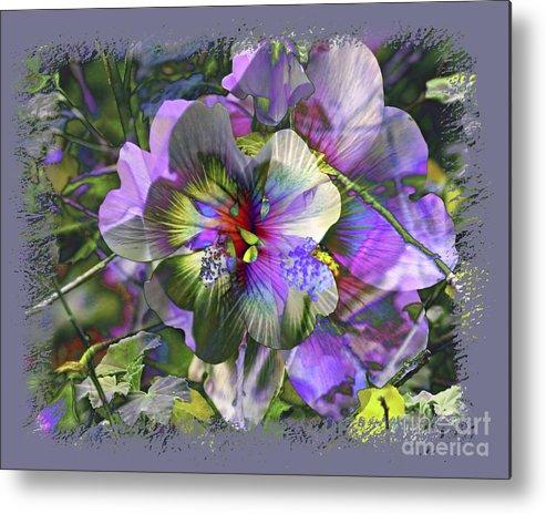 Flower Metal Print featuring the photograph Kaleidoscope Pollen by Chuck Brittenham