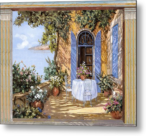 Blue Door Metal Print featuring the painting Le Porte Blu by Guido Borelli