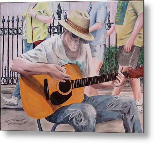 Kevin Callahan Metal Print featuring the painting Let the Good Times Roll-New Orleans Blues by Kevin Callahan