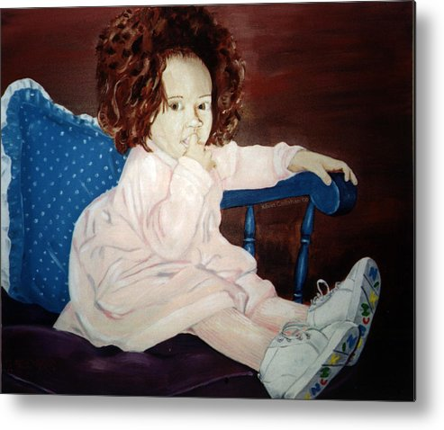 Kevin Callahan Metal Print featuring the painting Little Miss Hassler by Kevin Callahan