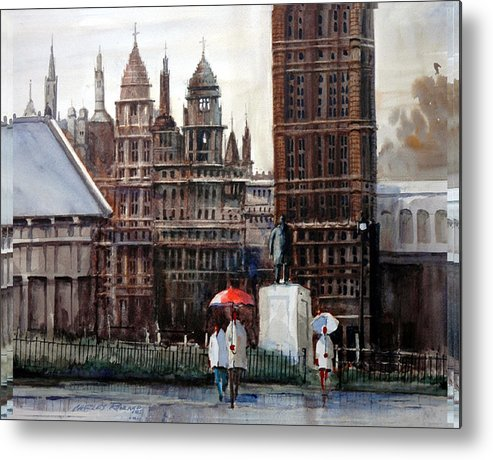 London Metal Print featuring the painting London Showers by Charles Rowland