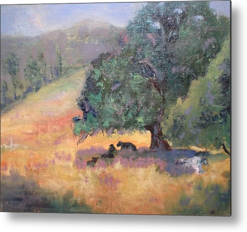 Landscape Metal Print featuring the painting Made In The Shade by Bryan Alexander