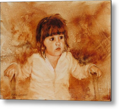 Oil Painting Metal Print featuring the painting Madison by Laura Lee Zanghetti