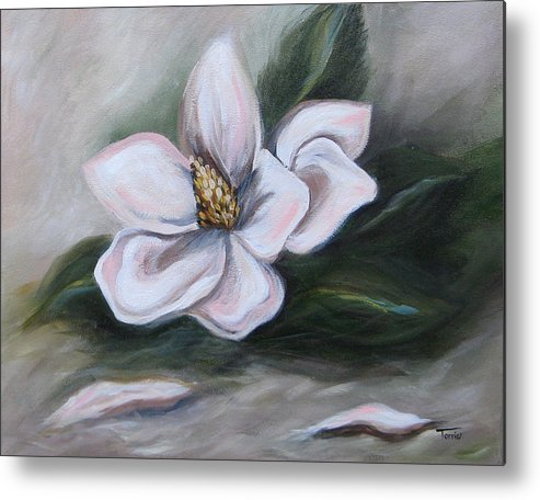 Flower Metal Print featuring the painting Magnolia Two - 2007 by Torrie Smiley