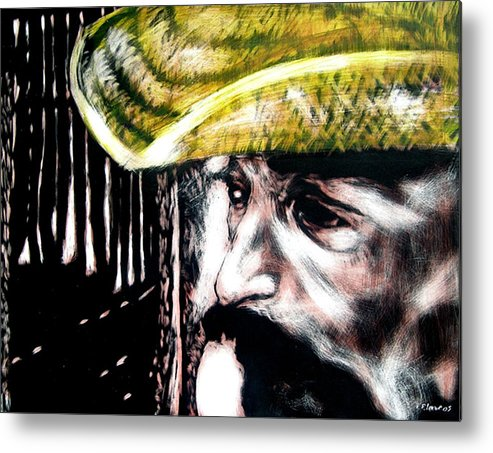 Metal Print featuring the mixed media Miguel by Chester Elmore